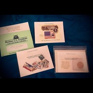 Heritage U.S President's coin and stamp collection